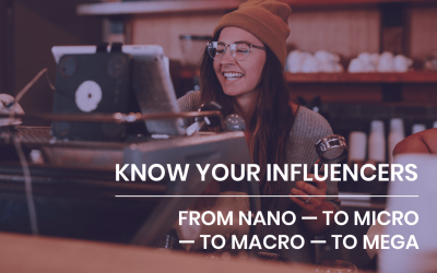 Know your influencers — from Nano to Micro to Macro to Mega