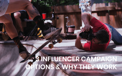 3 influencer campaign options and why they work