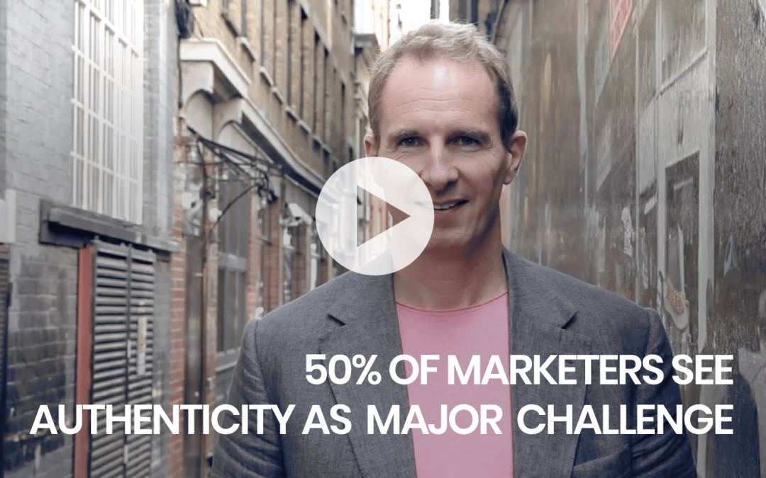 50% of marketers see authenticity as major challenge
