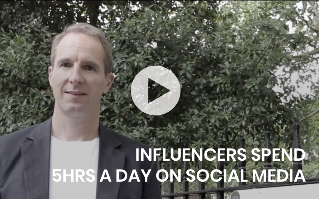 Influencers spend 5hrs a day on social media