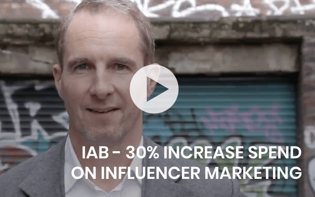 IAB – 30% increase spend on influencer marketing.