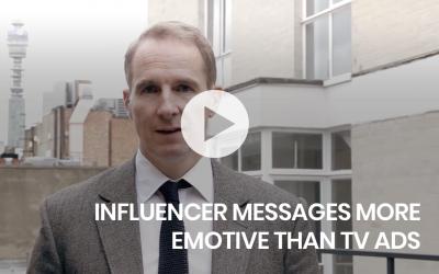 Influencer messages more emotive than TV ads