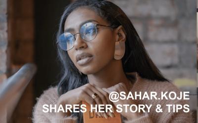 Creator Q&A @sahar.koje shares her story & tips