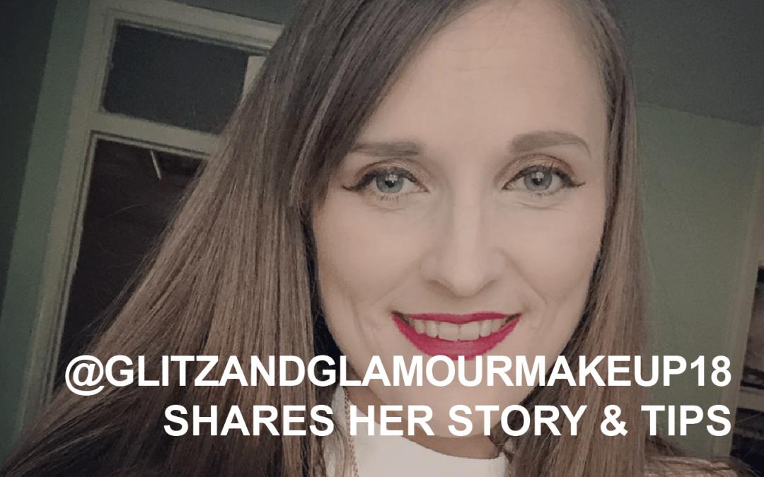 Creator Q&A @glitzandglamourmakeup18 shares her story and tips